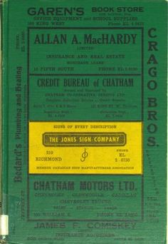 Vernon's city of Chatham (Ontario) miscellaneous, business, alphabetical and street directory for the year 1956