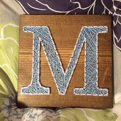 Letter/Initial String Art- Order from KiwiStrings on Etsy! ( www.KiwiStrings.etsy.com )