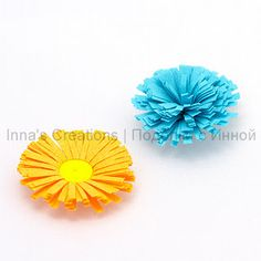 How to make fringed flowers - Tutorial here... http://increations.blogspot.com/2008/08/fringed-flowers.html