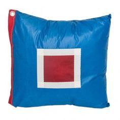 """$100 Serendipity 43 Blooper USA 3486 18"""" Sail Cloth Pillow  #Sailcloth #pillow #nautical"""