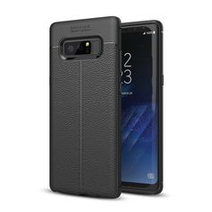 """Bakeeyâ""""¢ Anti Fingerprint Soft TPU Litchi Leather Case Cover for Samsung Galaxy Note 8/S8/S8 Plus"""