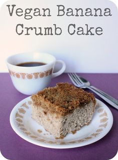 vegan banana crumb cake