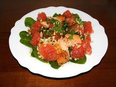 zadanie - gotowanie: Sałatka z łososiem i grejpfrutem.