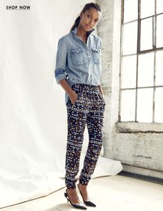 Turner Pant, chambray shirt - Womens New Arrivals : Dresses, Shoes & More | J.Crew