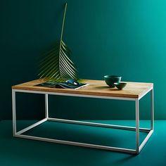 Box Frame Coffee Table - Raw Mango | west elm