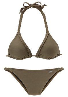 #BUFFALO #Damen #Triangel-Bikini #grün - Mit geflochtenen Details am Top und an der Hose. Regulierbares Top mit herausnehmbaren Cups.…