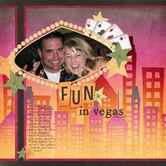 Another cute scrapbook page layout for my upcoming Vegas Trip