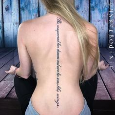 70 Latest Spine Tattoo Ideas for a Sexy Back Look Unique tattoo – Fashion Tattoos Girl Spine Tattoos, Back Tattoo Women Spine, Dope Tattoos, Unique Tattoos, Body Art Tattoos, Girl Tattoos, Tatoos, Spine Quote Tattoos, Female Spine Tattoos