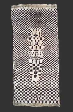 Pile carpet from the region around Azilal, central High Atlas, Morocco, ca. 1950, ca. 320 x 145 cm (10' 8'' x 4' 10'')