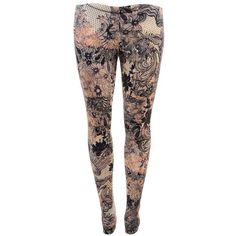 McQ ALEXANDER MCQUEEN Lace Print Leggings ❤ liked on Polyvore