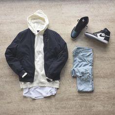 "ᵀᴴᴬᵀ ᴮᴼᵞ ᴷᴺᴼᵂˢ... ✍ on Instagram: ""Nothing was the same. ⛅️☁️ _____________________________________________ ▫️ #befamous Tank ▫️ #hm Hoodie ▫️ #asos Bomber ▫️ #riverisland Jeans ▫️…"""