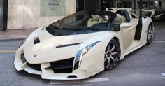 Super Cars Most Expensive Lamborghini Veneno Lamborghini Veneno Horsepower, Lamborghini Veneno Interior, White Lamborghini, Ferrari Laferrari, New Sports Cars, Exotic Sports Cars, Sport Cars, Exotic Cars, Most Expensive Lamborghini