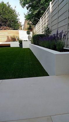 Contemporary Garden Design Ideas And Tips: Modern London Garden Design Garden Design London, London Garden, Small Garden Design, Rectangle Garden Design, Urban Garden Design, Back Gardens, Small Gardens, Outdoor Gardens, Outdoor Paving