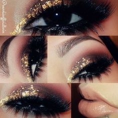 <3 Upper + Lower lashes, Gold and peachstock with gloss lips