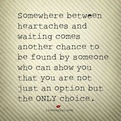 The only choice. .