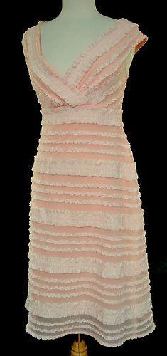 TADASHI for Neiman Marcus Sz 8 Gorgeous Shirred Ruffles Off Shoulder Special Occasion Dress