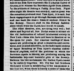 "TOM HYER filling the Bowery theaters with ""Tom & Jerry"" show. March 10, 1849"