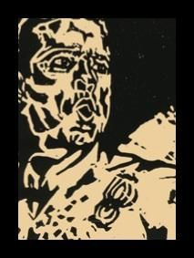 Henry Rollins • Electric Circus Sideshow • print from woodcut