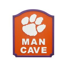 Clemson Tigers Man Cave Shield Wall Art, Multicolor