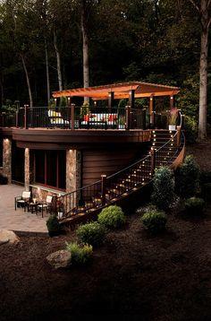 Hermoso diseño estructural de madera para superficies plana