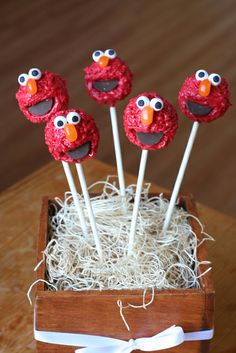 Elmo Cake Pops by Sweet Lauren Cakes, via Flickr