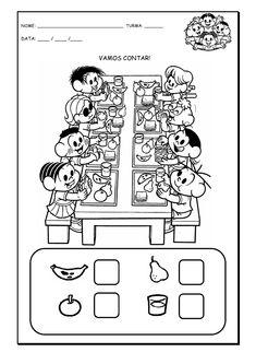 Alfabetizando com Mônica e Turma: Vamos contar - atividade com o número 8 Pre School, School Days, Spanish Numbers, I Spy Games, Early Math, Math Numbers, Math For Kids, First Grade, Math Activities