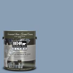 BEHR Premium Plus Ultra 1-gal. #UL240-17 China Silk Interior Semi-Gloss Enamel Paint-375401 at The Home Depot