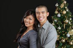 Christmas photos, christmas tree, indoor, photography, couples, holiday photo ideas