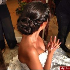 wedding updo! always looks nice when you add a braid!