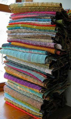 Handwoven Scarf Unisex woven Scarf Colorful von pidgepidge