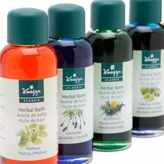 Kneipp Herbal Bath Oils (3.4 fl.oz).