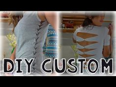 DIY Camisetas Customizadas #01 - YouTube Robe Diy, Reduce Reuse, Couture, Diy Dress, Refashion, Diy Clothes, Different Styles, Sexy, Marie