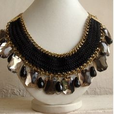Statement Necklace/Crystal Necklace/Bubble by FootSoles on Etsy, $32.10