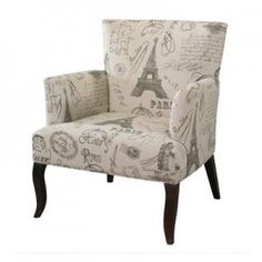 FrenchCalligraphySideChair 300x300 Paris Living Room Furniture Pieces