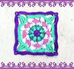 Moroccan crochet square #4 | Vrouekeur