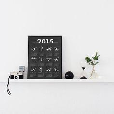 'Scratched' Calendar 2015