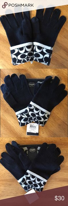 ‼️Final Price Drop COACH Tech Gloves signature C COACH Tech Gloves with black and light grey signature C print. Wool blend with index finger and thumb tech accessible. BNWT 100% Authentic. Coach Accessories Gloves & Mittens