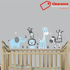 #newborn Our #decals are peel and stick. ALL animals, leaves, etc are printed on a coated, durable fabric material that is #repositionable. Coated fabric looks si...