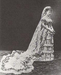 1881 Victoria of Baden's wedding dress | Grand Ladies | gogm