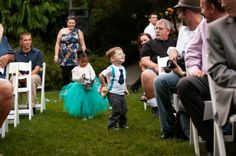 What a great idea for the flower girl (cute little tutu dress)