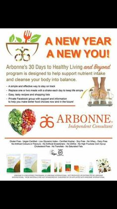 Have a New Year's Resolution to LIVE better and FEEL better? Is anyone else feeling a food hangover from the holidays? I know I am Join me for: Roxannepierce10@yahoo.co. ✔40-50% off your order  ✔Preferred Rewards Dollars ✔30 day supply of Arbonne Nutrition Essentials ✔A free product (up to $50!) ✔Clean eating recipes  ✔Grocery shopping list  ✔Coaching, Accountability & Support