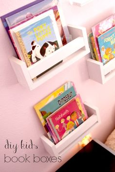 diy book Boxes {The Inspiration Network via Delicate Construction}