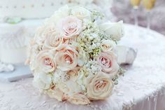 The exact bouquet! Only different colors Marie Boyle Nash Cory Blush Bouquet, Flower Bouquet Wedding, Bridesmaid Bouquet, Floral Wedding, Blue Bridesmaids, Wedding White, Wedding Show, Our Wedding, Dream Wedding