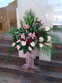 Visit the post for more. Church Flowers, Funeral Flowers, Wedding Flowers, Funeral Flower Arrangements, Floral Arrangements, Altar Decorations, Sympathy Flowers, Church Design, Ikebana