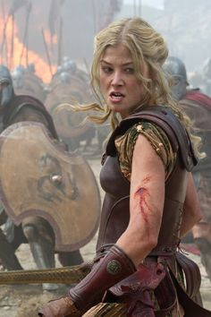 Rosamund Pike ROCKED the warrior-queen look as Andromeda in Wrath of the Titans!!!