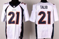 nike denver broncos 21 aqib talib 2013 white elite jersey