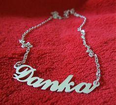 havranka / Silver chain with name
