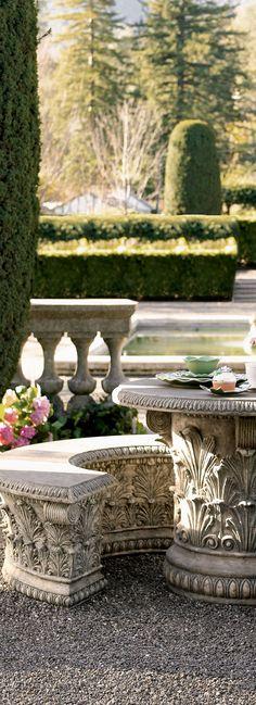 Roman Garden Table