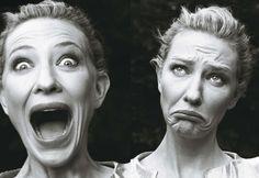 Cate Blanchett photographed by Annie Leibovitz. Vogue, Dec. 2009.