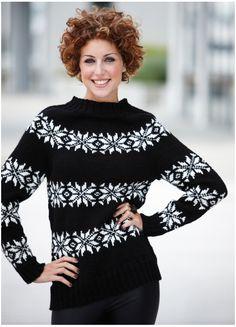 Nordisk sweater i klassisk stjernemønster.  Gratis opskrift finder du på stof2000.dk: http://stof2000.dk/shop/garn/gratis-strikkeopskrift/gratis-opskrift-kreta